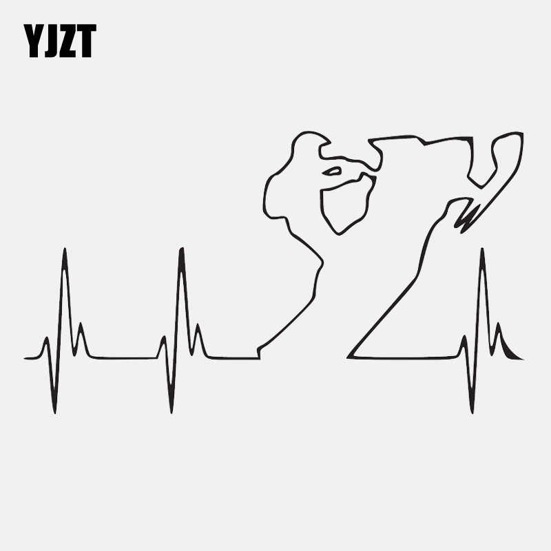 YJZT 14.9CM*8.4CM Adventure Snowmobile Heartbeat Vinyl Motorcycle Decal Car Sticker C22-1044