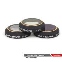3Pcs ND8 CPL Circular Polarizer MCUV UV Camera Lens Filter Kit for DJI MAVIC PRO Won