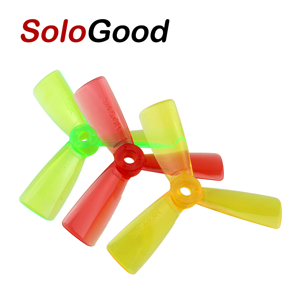5 pairs <font><b>3045</b></font> 3 Leaf Blade Transparent Prop <font><b>Propeller</b></font> CW /CCW MINI Quadcopter <font><b>Propellers</b></font> Promotion for qav250 Robocat270 image