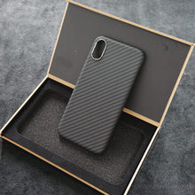 ENMOV Super Slim Carbon Fiber Case for iPhone XS MAX Matte Camera Protection Ultra Light Real Carbon back case for iPhone XS X