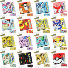 Anime Pocket Monster High Quality PU Short Wallet/Moblie Game Pocket Monster Button Purse (MCDQB_Variety)