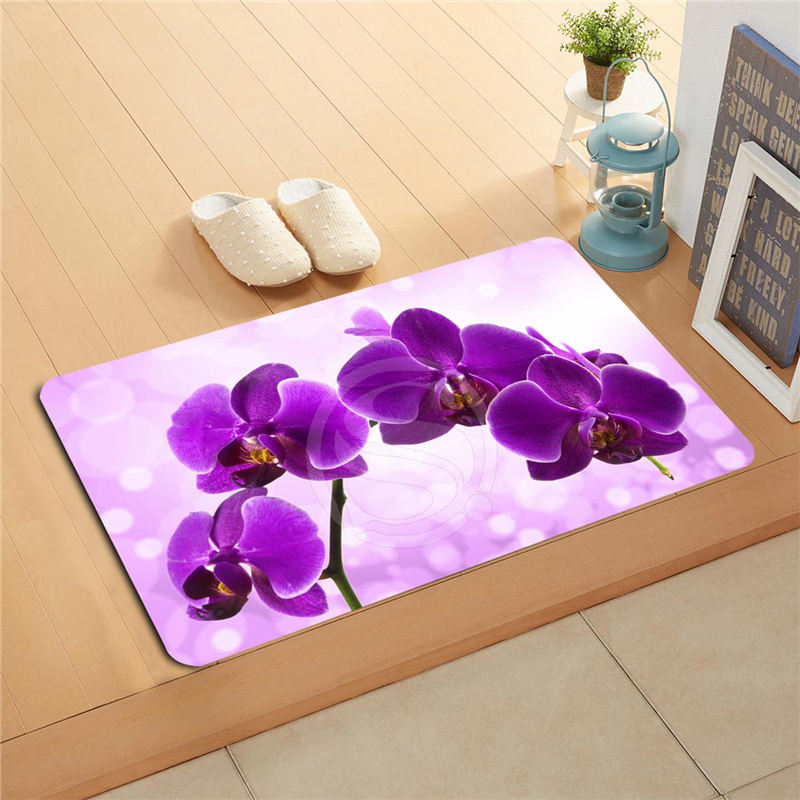 KU-49rt Custom flowers orchid flowers Doormat Home Decor Door mat Floor Mat Bath Mats foot pad U-F718!!Px-49Aty