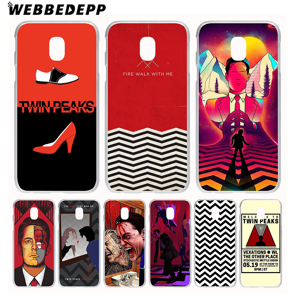 WEBBEDEPP Red WELCOME TO TWIN PEAKS Case for Galaxy J1 J2 Ace J3 J5 J7(2015/2016/2017/Prime) EU US Version