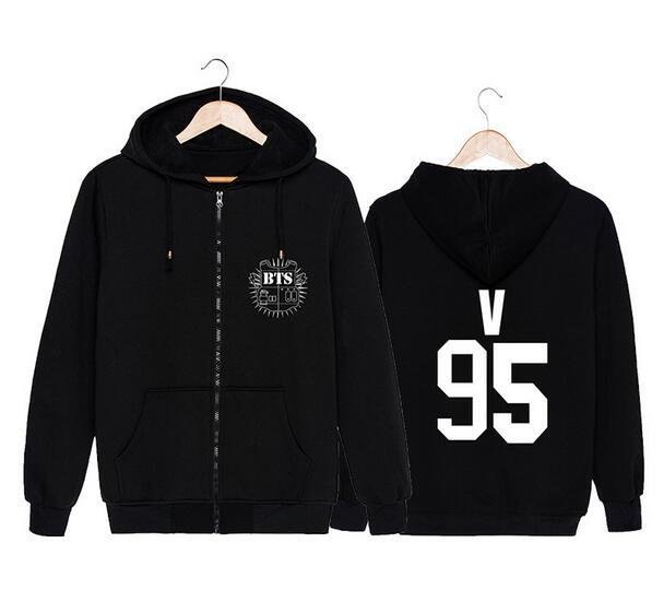 Kpop BTS Bangtan men women JungKook Suga male character Pullover Hoodies Clothes Print fleece hooded Sweatshirts Concert shirt