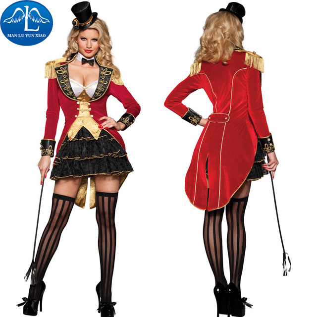 manluyunxiao women halloween costumes wild animal trainer dress girl suit dresses cosplay costumes circus performance clothes - Clothes Halloween