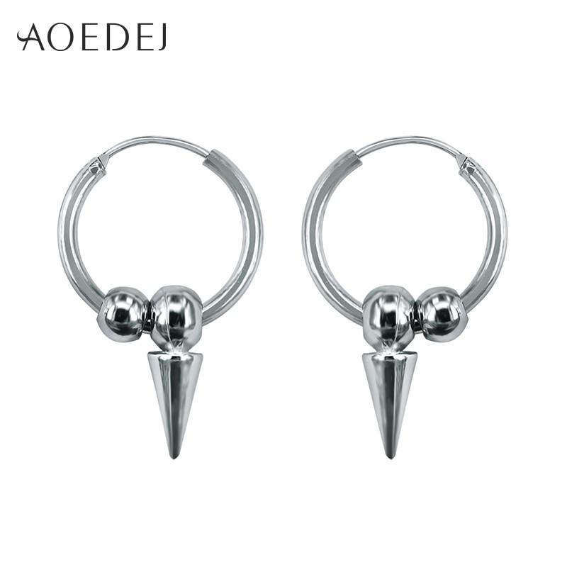 AOEDEJ Spike Earring Punk Small Hoop Earrings For Men Hoop Punk Earrings Circle Earrings Jewellery Orecchini Cerchio Piccoli earrings