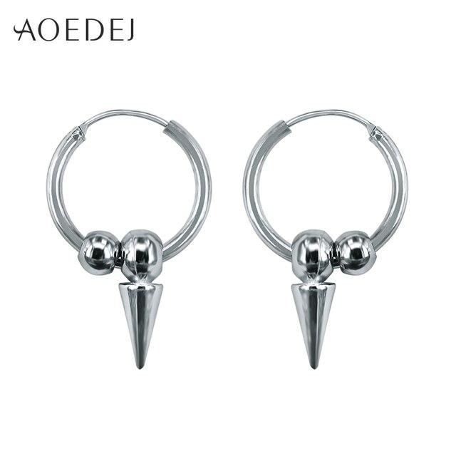 0d25822da AOEDEJ Spike Earring Punk Small Hoop Earrings For Men Hoop Punk Earrings  Circle Earrings Jewellery Orecchini