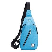 Мужская нагрудная сумка oxford спортивная на одно плечо через