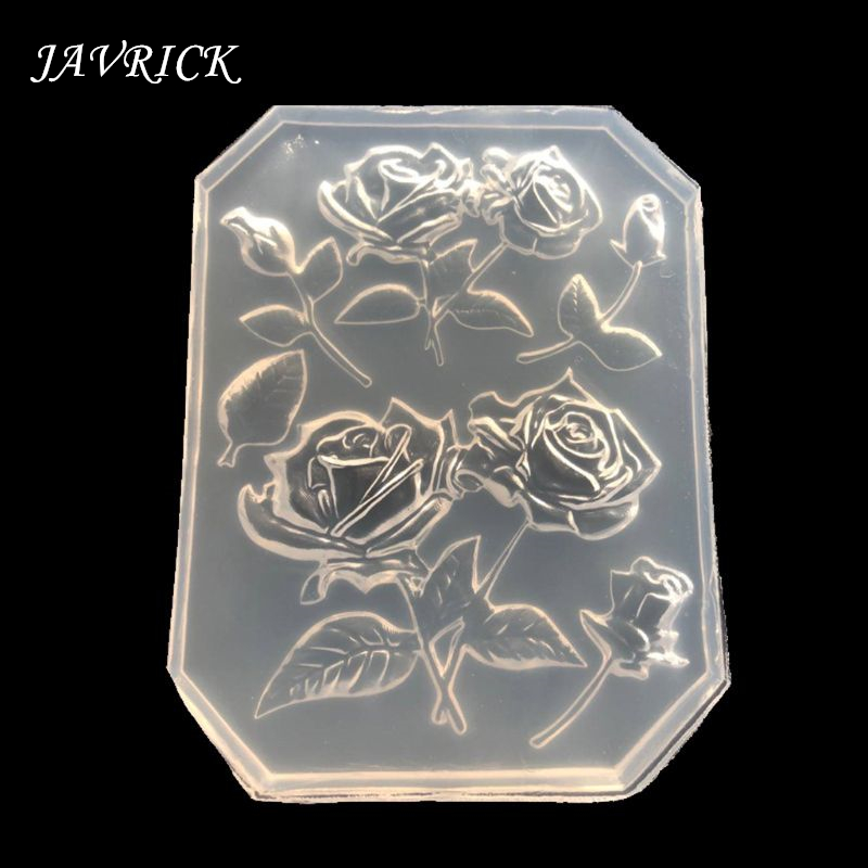 Rose Flower Silicone Molds Maple Leaves Cake Decor Resin Pendant Silicone Molds Jewelry DIY Tools