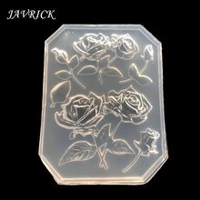 Rose Flower Silicone Molds Maple Leaves Cake Decor Resin Pendant Jewelry DIY Tools