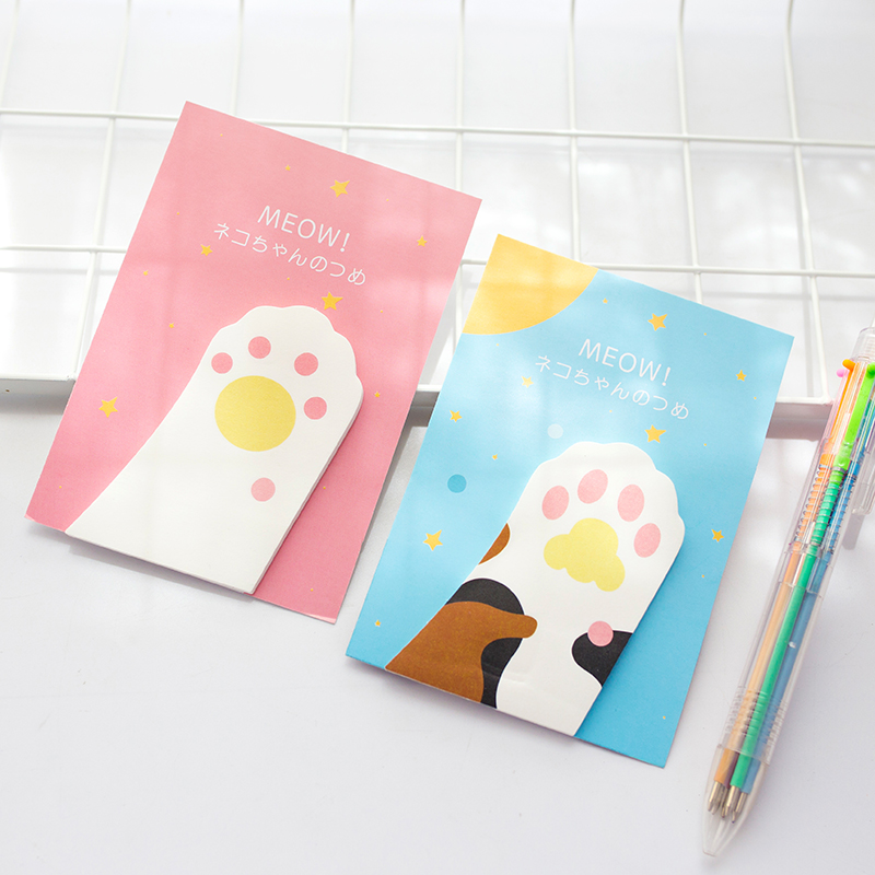 6 pcs/Lot Cute cat claw stickers planner diary book marker Post memo pad Stationery Office material school supplies FM107