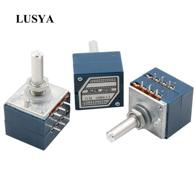 Lusya orijinal japonya ALPS RK27 çift ses potansiyometre 10k 50K 100k yuvarlak kolu hifi amplifikatör A9 013