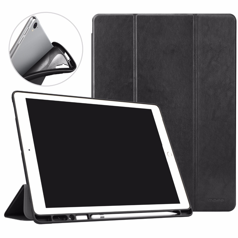 MoKo Case for iPad Pro 12.9 2017/2015 with Apple Pencil Holder - Slim Lightweight Smart Shell Stand Cover Case with Auto Wake