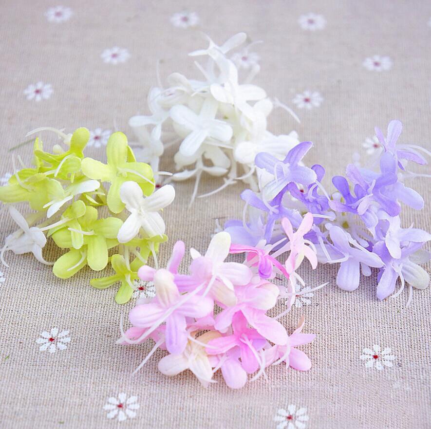 unidslote seda artificial trachelium caeruleum lugar arco bola de flores para la fiesta de la boda de flores h