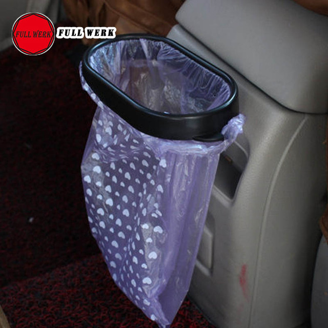 1pc Rubbish Bin Car Organizer Clip Trash Bag Holder Clip Rack Support Stand Portable  Garbage Bag