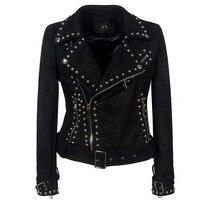 Rosetic куртка в готическом стиле пальто мотоцикл пальто из искусственной кожи уличная заклепки плюс Размеры ремень плащ с лацканами панк зима