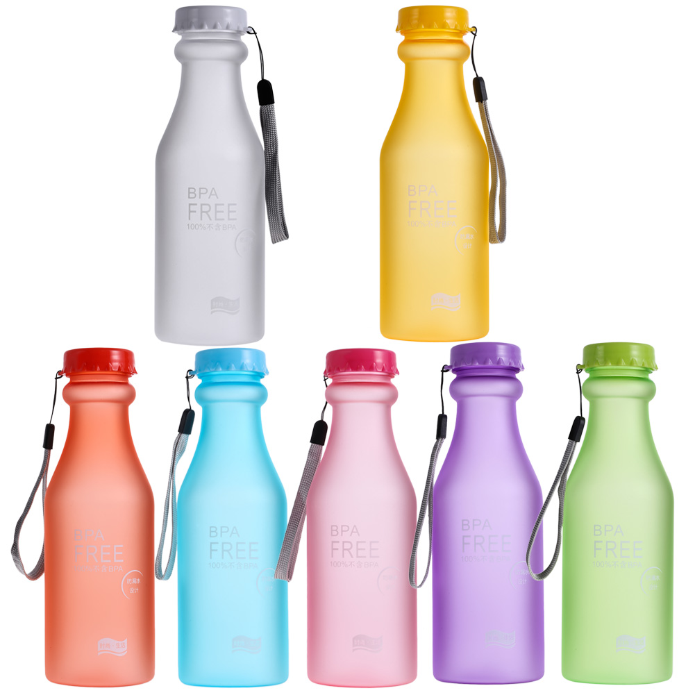 Portable 550ml Plastic Sports Water Bottle Leak-proof Bike/Outdoor/Climbing/Camp Bottle High Quality