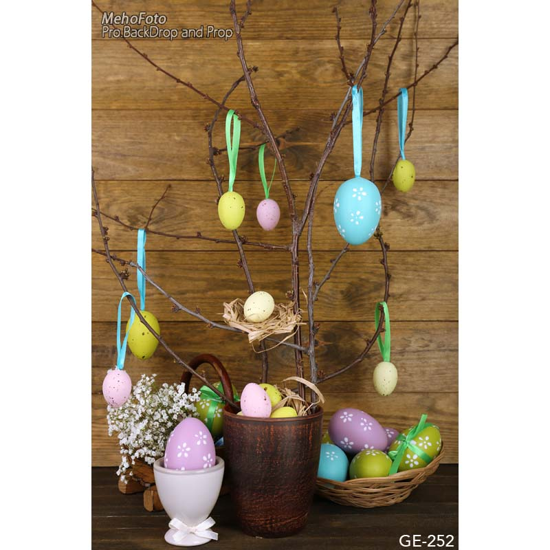 Decorated Easter day eggs photography backdrops dry branches fotografia photo background for photo studio photography background 200cm 150cm easter photography backdrops hay wood walls eggs studio photo easter day zj
