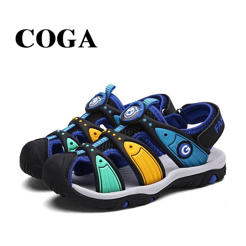 LA LPGC tissu d'été garçon sandales bout wrap sandale enfants chaussures mode sport sandales enfants sandales pour garçons 6 10 ans - 6