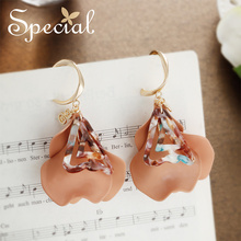цена на Special personality female earring petal fashion multi-layer flower ear decoration temperament ear nail reduced age sweetheart