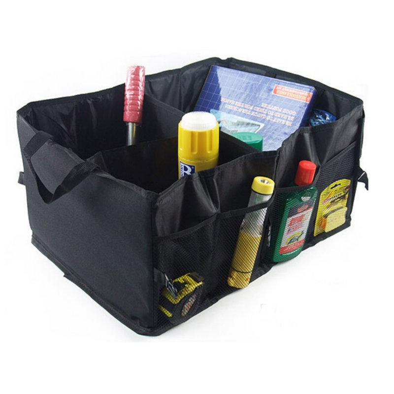 Waterproof Foldable Black Car Boot Organizer Storage Bag Protable