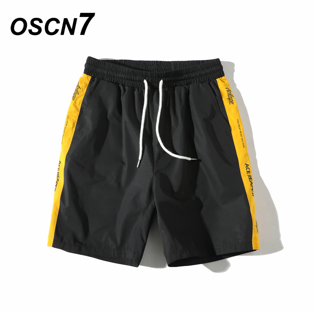 OSCN7 Casual Man Short Pants Fashion Summer Mens Shorts Plus Size Leisure Beach Mens Shorts