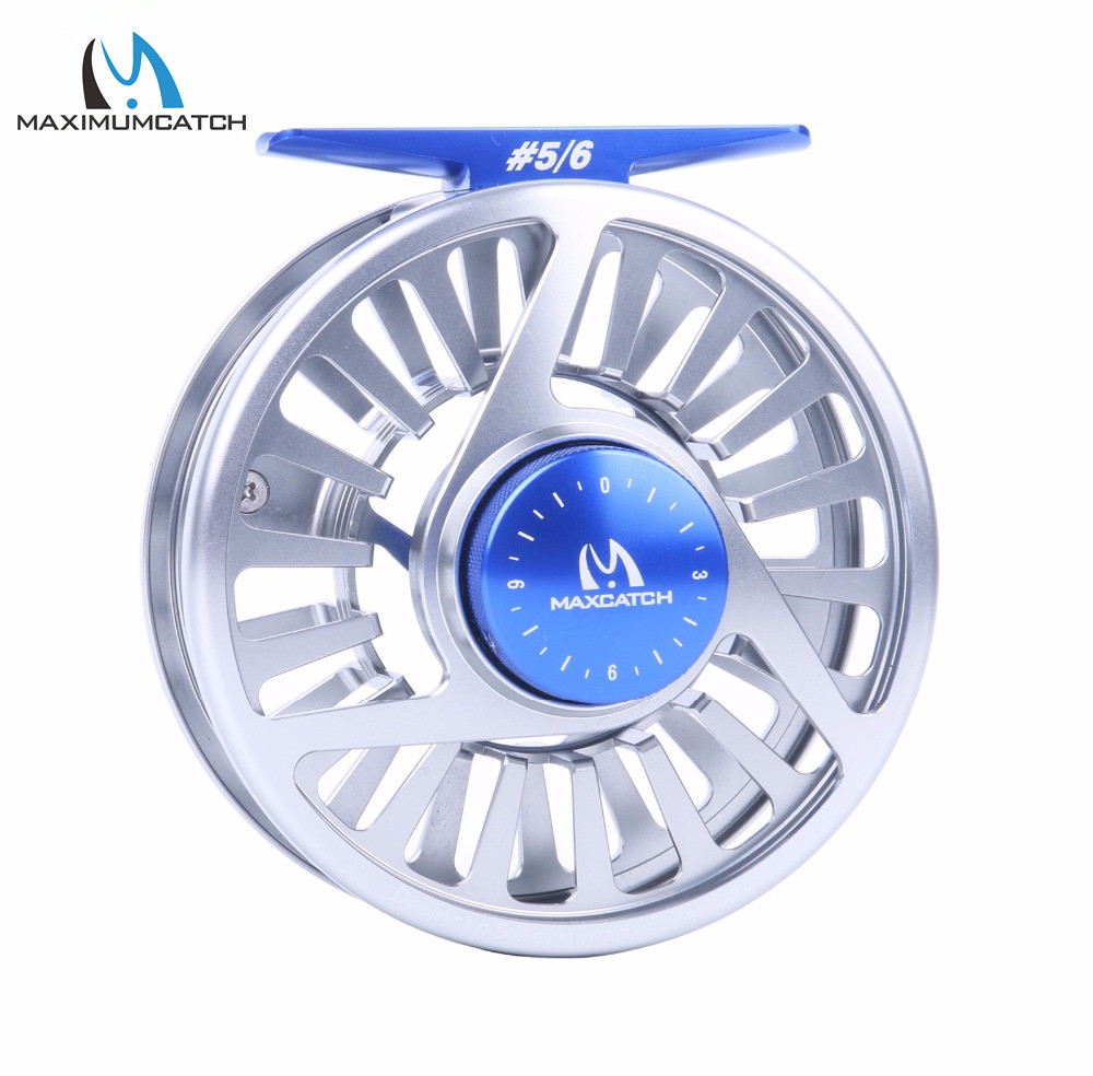 ФОТО Maximumcatch AVID Fly Fishing Reel 5/6WT Fly Reel Machined Aluminium Silver Micro Adjusting Drag Fly Reel