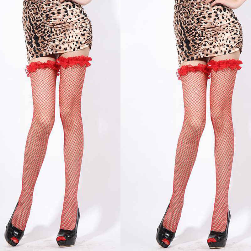 e09b56ed3dc Detail Feedback Questions about Women Ladies Sexy Transparent Fishnet Silk  Sheer Thigh High Hold Up Stockings Hosiery Black White Red on  Aliexpress.com ...