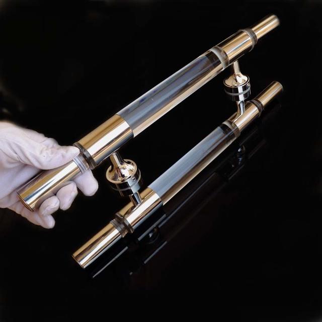 400mm claro de la manera simple moderna puerta de cristal maneja baño de acero inoxidable tira de las manijas