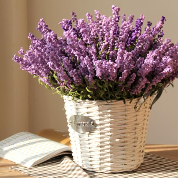 Romatic Pink Purple Lavender Pe Artificial Flower Valentine Day Gift Home Decoration Wedding Party Desk Wall Decor 15pcs Lot In Dried Flowers