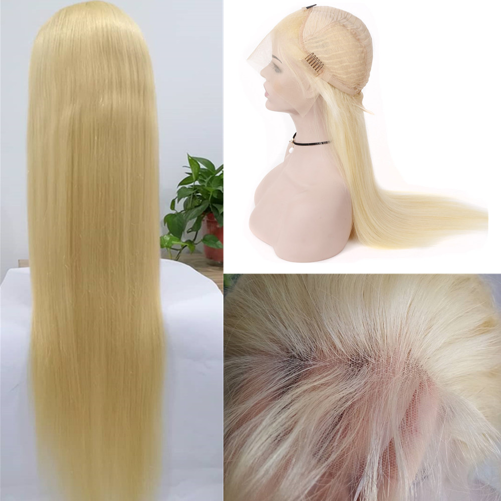 613 Lace Front Wig Pre Plucked With Baby Hair Transparent Lace Blonde Lace Front Human Wigs