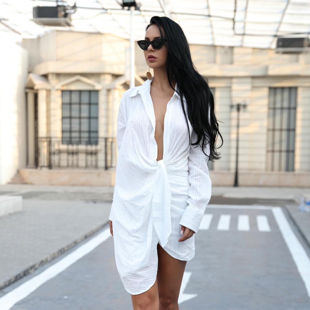 Fashion Show Hot sale Autumn dress Long sleeve Deep V-neck Sexy Women celebrity body con Mini dresses wholesale