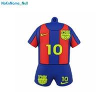 Barcelona Messi pendrive 32gb 2.0 usb flash drive 64gb Football player Jersey pen memory stick 4gb 8GB 16gb disk 128gb