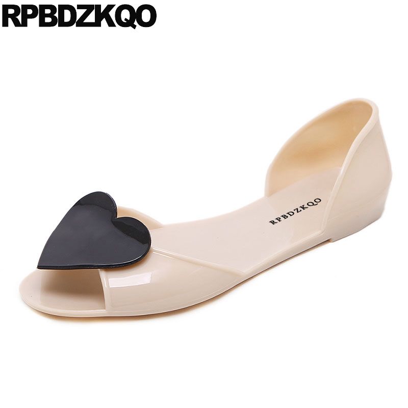 Sandals Designer Slip On Ladies Nude Transparent Women Jelly Chinese Peep Toe 2018 Cheap Shoes China Heart Summer Flats Fashion