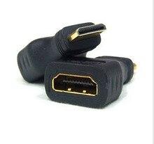 2 шт./лот Бесплатная доставка HDMI для Mini HDMI без потерь сигнала позолоченный mini hdmi кабель адаптера Камеры