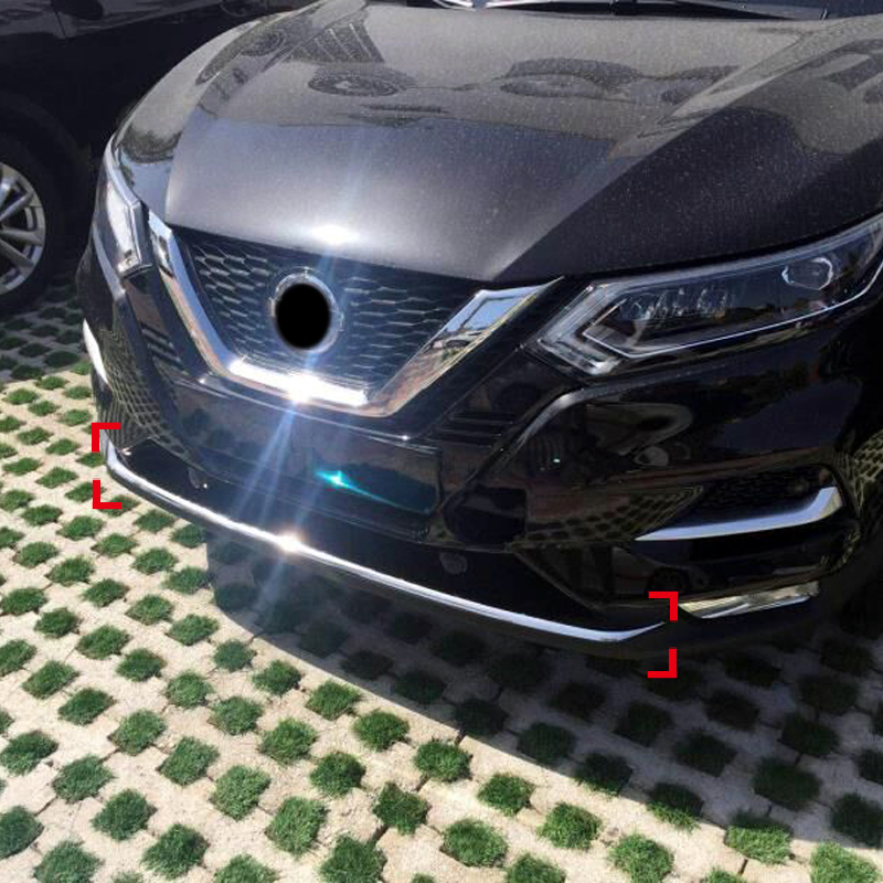 For Nissan Qashqai J11 2018 Stainless Steel Front Bumper Skid Bottom Molding Cover Decoration Trim 1pcs