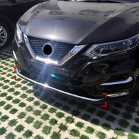 For Nissan Qashqai J11 2018 2019 Stainless Steel Front Bumper Bottom Molding Strip Cover Decoration Trim Car Styling Accessories