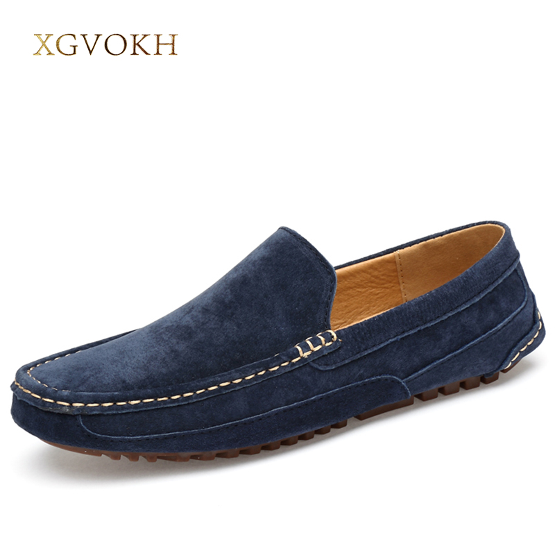 Mens Shoes Casual Leather Fashion Loafers Men Black Solid Driving Moccasins Leisure Spring Flat xgvokh brand Men's Shoes Boat mens s casual shoes genuine leather mens loafers for men comfort spring autumn 2017 new fashion man flat shoe breathable