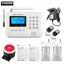Sistema de alarma de voz múltiple casa de seguridad del sistema de alarma gsm con sensor magnético de La Puerta inalámbrica detector de Movimiento