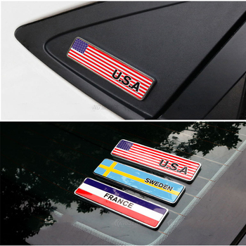 1pcs Patriotic Flag Badge Car Emblem Sicker For BMW E46 E39 E90 E60 E36 F30 F10 E34 X5 E53 E30 F20 E92 E87 M3 M4 M5 X5 X6 image