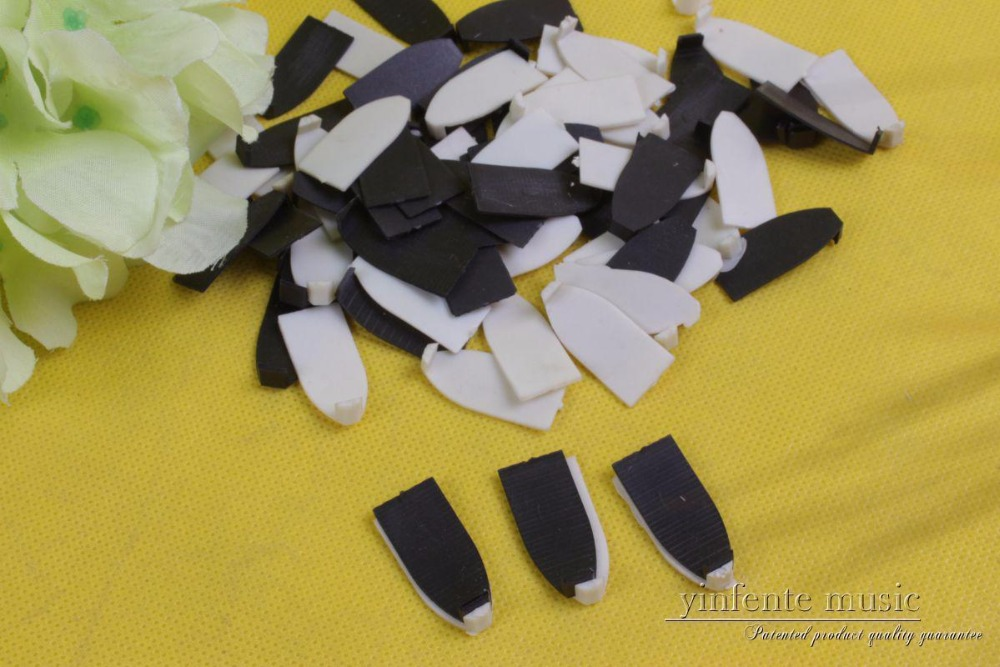 100pcs Violin Bow Tips And Lining,musical Instrument Part Plastic #485