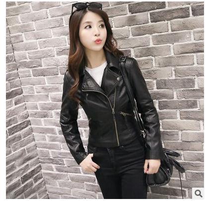 Chaquetas De Cuero Mujer Small   Leather   Jackets Casual Black Short Section Female   Leather   Coat Jaqueta Couro Feminina S/2Xl J1789