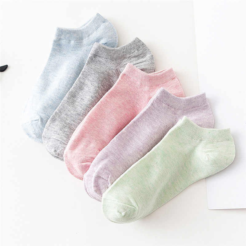 Candy Color Cotton Socks Spring Summer Short Socks Solid Color Invisible Shallow Mouth Lady Girls Children Socks Drop shipping