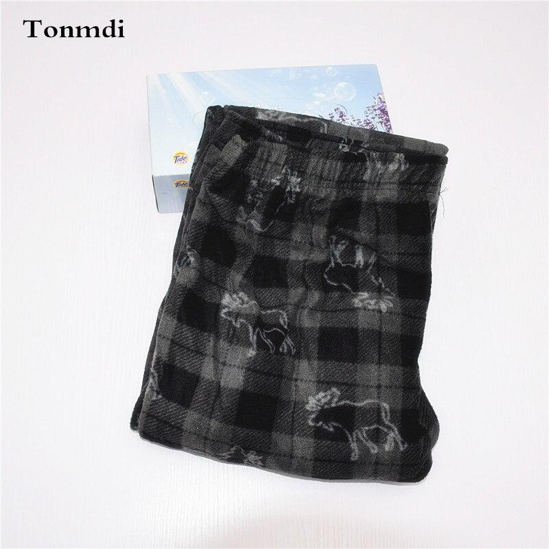 Sleep Trousers Men Thin Velvet Fleece Lounge Pants High Waist Trousers Pajama Pants Double Pocket Men Sleep Bottoms
