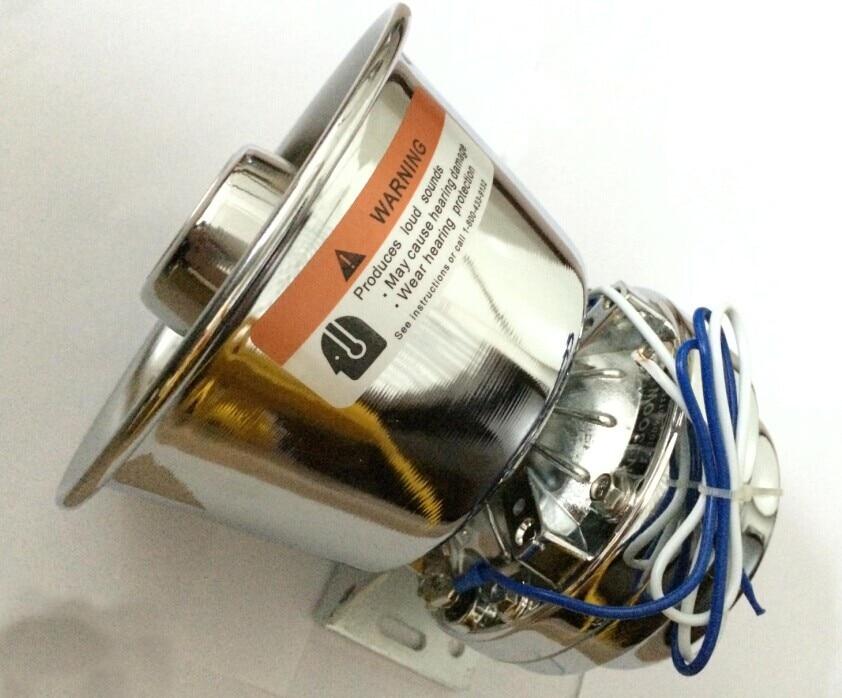 200W Stainless Steel font b Electronic b font Horn Car Alarm Siren Loudspeaker Horn Automotive Siren