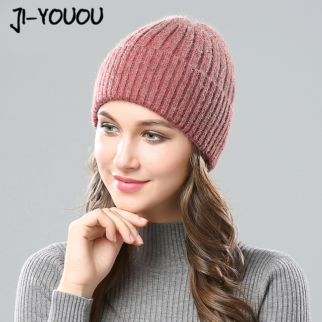 78c3aa90b8e winter hats for women Comfortable beanies balaclava Silver line face mask  beanie The New fashion Double