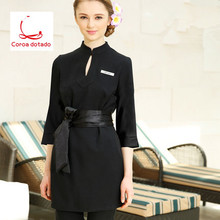 Beautician dress overalls new seven-point sleeve autumn winter beauty salon health hall cosmetology suite 2019
