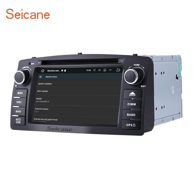 Seicane Android 7,1 Автомобильный DVD Радио gps навигационная система для 2006 2012 Toyota Corolla E120 BYD с Поддержка wi fi зеркало ссылка OBD2