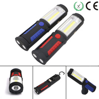 USB Rechargeable COB LED Flashlight 5W 350 Lumens Torch Work Hand Lamp Lantern Magnetic Waterproof Emergency