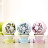 High Quality Fashion Creative Jingle USB Home Office Aromatherapy Colorful Nightlight Water Mist Air Conditioning Fan